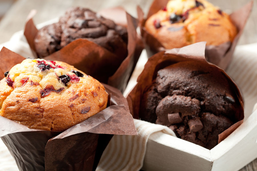 Chocolate-Muffins-and-Blueberry-Muffins