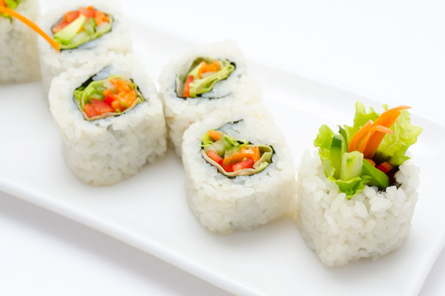 Vegetarian Sushi for Pinterest