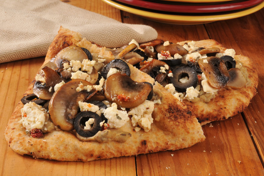 Mushrooms-on-Naan-Bread