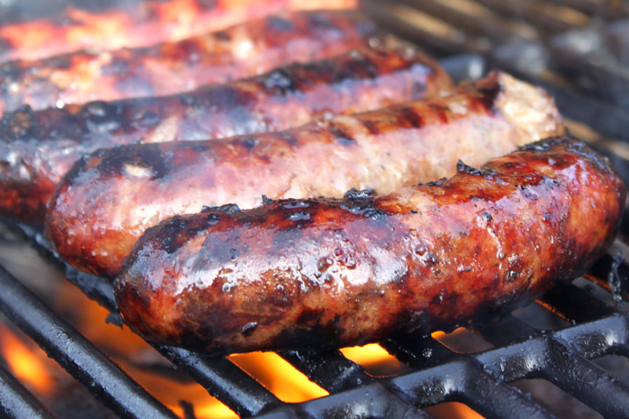 Sausages-on-BBQ