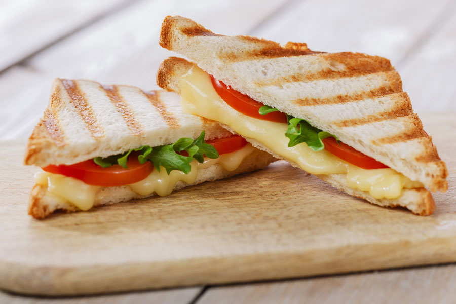 Cheese And Tomato Toasted Sandwich