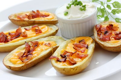 Potato-Skins-With-Cheese-And-Bacon