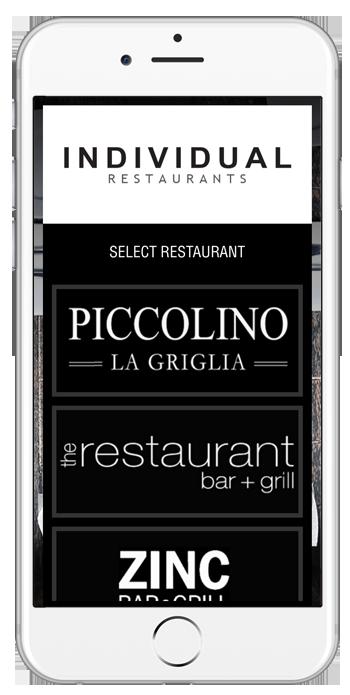 Individual Restaurants app