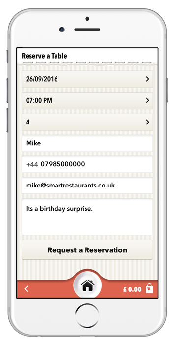 Reserve a Table App