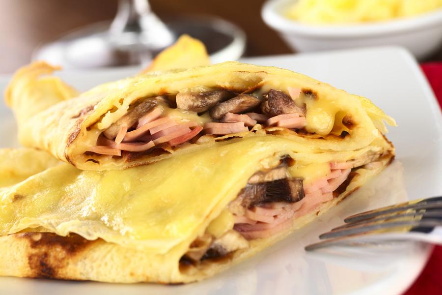 Ham-Cheese-Mushroom-Pancake